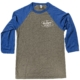 Unisex Baseball Tee - blue & gray w/ white logo